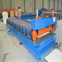 China Steel Profile Roofing Corrugated Sheet Roll Forming Machine 0.3 - 0.8mm Thickness on sale