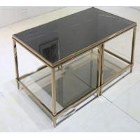 stone top Brass  stainless steel metal side table/End table/coffee table/C table, hotel furniture,casegoodsTA-0088 Manufactures