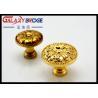 Buy cheap Luxury Gold Kitchen Cupboard Door Knobs Zinc Alloy Bottom Pulls 34mm Diameter from wholesalers