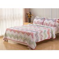 Country Style Wave Embroidered King Size Patchwork Quilts 3pcs 100% Cotton Manufactures