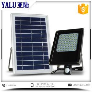 N500E F motion sensor 120 leds solar power waterproof IP 65 solar street flood light Manufactures