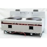 Chinese Style Two Burner Big Wok Stove Strong Firebrick Burner 250W Power Blower Manufactures