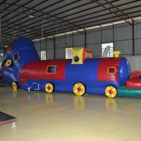 8 Meters PVC Inflatable Sport Games Inflatable Tunnel Train For Kids WIith Blower Manufactures