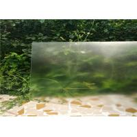Solid Structure Low Iron Toughened Glass Flat Shape 3.2mm / 4mm Thickness Manufactures