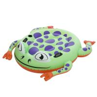 Giant Frog Rider Funny Vinyl Inflatable Swimming Pool Floats Customized Manufactures