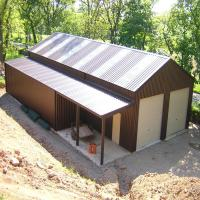 Steel Storage Building Construction Low Cost Prefabricated Industrial Metal Sheds Manufactures