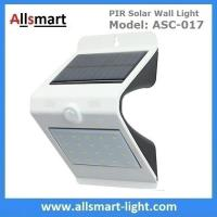 NEW 24LED Triangle PIR Solar Sensor Motion Wall Light Fixture White Lampshade Warm White Back LED Outdoor Wall Mounted Manufactures