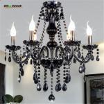 New Modern Black crytal chandeliers lighting for Livingroom Bedroom indoor lamp K9 crystal lustres de teto chandelier Manufactures