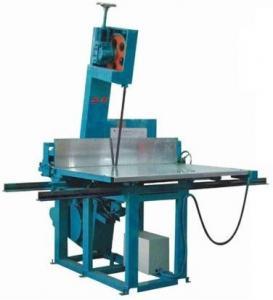 PU / Polyurethane Vertical Foam Cutting Machine , High Density Foam Cutter Equipment Manufactures