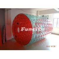 Red And Green Colorful Inflatable Water Walking Roller For Adult Manufactures
