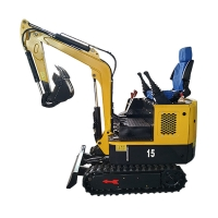 China Widely used China 1.5 ton wheel excavator for construction works on sale