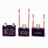 Metallized Polyester Film Capacitors (Motor Starting) with Various Rated Voltages, RoHS Compliant Manufactures