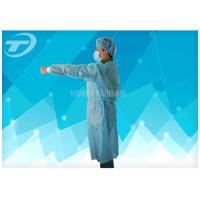 Non Woven Protective Spunbonded Disposable Isolation Gowns Polypropylene 120*140cm Manufactures