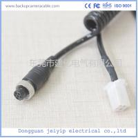 Black Drive Recorder Backup Camera Cable 6 Pin To Terminal Internal Machine Manufactures
