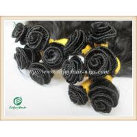 Hand tied weaviing Malaysian virgin remy hair,straight hair extension no shed no tangle Manufactures