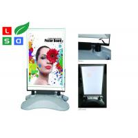 China Silver Color Lighted Movie Poster Frame , AC 85 - 245V Input LED Poster Frame on sale