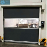 Black 3KW 1000times/Day Plastic Roller Shutter Doors Manufactures