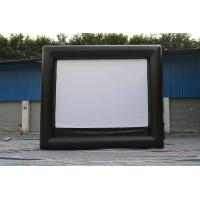 Black / White Fireproof Portable Inflatable Outdoor Movie Screen 0.55mm PVC Tarpaulin Manufactures