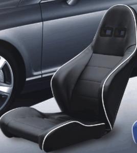 Unadjustable Durable PVC Sport Racing Seats Pair + Slider 1 Year Warranty Manufactures