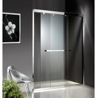1200-2000X1900mm Double Sliding Glass Shower Doors , Shower Cubicle Doors With Double Wheels Manufactures