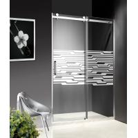 1200-1800X1950mm Stainless Steel Sliding Glass Shower Doors , Shower Cubicle Doors With Zinc Wheels Manufactures