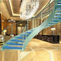 Luxury curved glass staircase for sale Manufactures