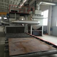 China Steel Plate Roller Conveyor Shot Blasting Machine Improve Paint Film Adhesion on sale