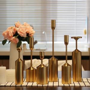 Golden Lighthouse Long Stem Metal Candle Holder For Home Decoration Manufactures