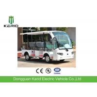 3 Rows Safa Seats Small Electric Shuttle Bus With MP3 Player Alloy Rim For Hotel Manufactures