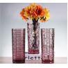 Weaving Colored Glass Vase / Transparent Desktop Decoration Vase Manufactures