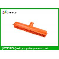 Orange Color Garden Cleaning Tools Rubber Broom Head Durable HG0610-H Manufactures