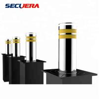 Buy cheap Automatic Rising Electric Hydraulic Stainless Steel Bollards with LED Light from wholesalers