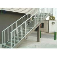Residential Outdoor Stair Handrail Wall / Grounded Mounted With Stable Function Manufactures