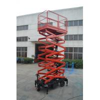 Quality Ware House Using Motorized Scissor Lift 12m platform Height DC Lifting and Moving for sale