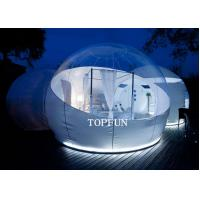 Semi Transparent Inflatable Bubble Tent With Two White Tunnel , 5 M Diameter Manufactures