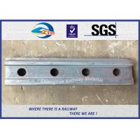 Quality High Tensile Railway Fish Plate For BS80A Steel Rail Standard Joint Bar 45# for sale