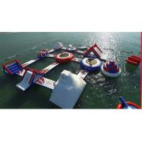 Floating Inflatable Water Park Entertainment Wake Island Inflatable Aqua Park Manufactures