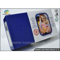 Promotional Electronics Packaging Boxes Blue Paperboard Customized Sizes Manufactures