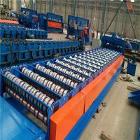 Quality PLC Control Tile Trapezoidal Roll Forming Machine With Custom Color for sale