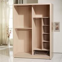 China Wood Veneer Face Particle Board Wardrobe With Trouser Hanger Rack Clothes Rail on sale