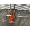 Buy cheap 8'x14' chain link fence panels for construction site heavy duty design cross brace tube 1⅝