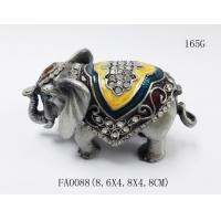 China Alloy Elephant Jewelry Box Small Jewelry Box elephant metal jewelry boxes elephant shape bejeweled box on sale