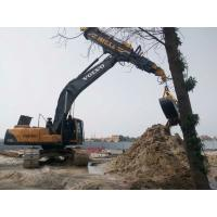 Low Noise Excavator Rotating Clamshell Grapple Bucket For Telescopic Boom Arm Manufactures