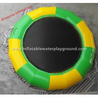 Big Bouncer Inflatable Water Trampoline Rentals For Adults , 5m Diameter Manufactures