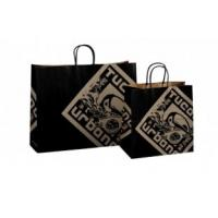 Custom 110 gsm, 120 gsm kraft printed paper carrier bags d22 for take-away food Manufactures