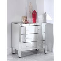 Full Glass Mirrored Night Stands Table W40 * D32 * H85cm / Custom Size Manufactures