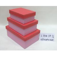 Pink Small Rectangular Handmade Cardboard Boxes Base And Lid For Gift Storage Manufactures