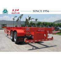 20 Ft Skeletal Trailers , 2 Axle Container Delivery Trailer For Terminal Use Manufactures