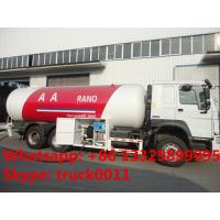 HOWO 6*4 10ton lpg gas dispenser vehicle for sale, SINO TRUK HOWO brand lpg gas filling truck for gas cylinders for sale Manufactures