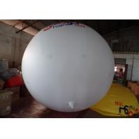 0.14mm PVC White Helium Advertising Balloons Full Digital Printing Manufactures